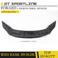 100% Real forged carbon fiber spoiler for Mercedes W205 C CLASS spoiler wing forged rear truck forged spoiler R styling
