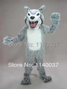 mascotte felle husky hond mascotte kostuum stripfiguur carnaval - Carnavalskostuums