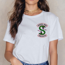 Riverdale Southside T koszula kobiety 90 s South Side węże koszulka w stylu Vintage Harajuku ulzzang Tshirt wąż drukuj Top Tees kobieta 2
