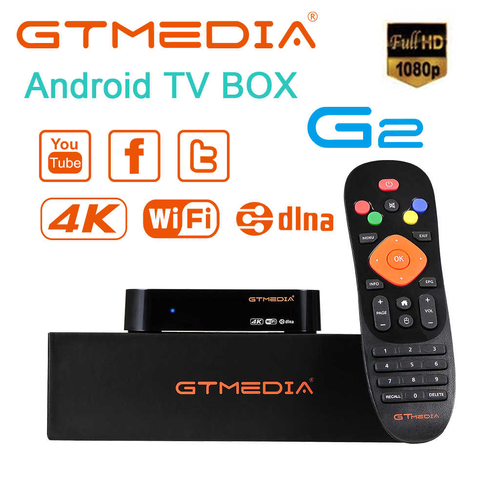 GTMEDIA G2 Android 7,1 Smart Tv Box Media Player Amlogic S905W 2GB de RAM + 16GBROM Control remoto 4K HD H.265WIFI 2,4G Set cajas superiores