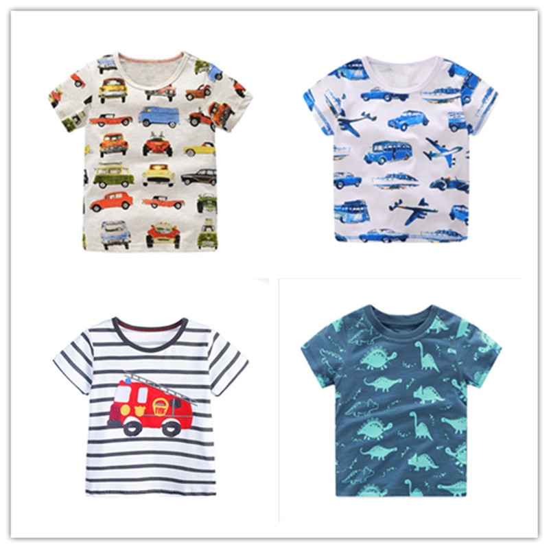 Summer Boys T-Shirts Cotton Children T-shirts Tops For Kids Short Sleeve Kids Blouse Toddler Tees Baby Cartoon Cars Clothing