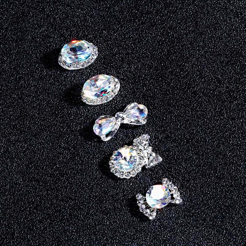 10 pcs מים זרוק/לב/Bow צורת נייל Rhinestones 6x13mm/8*13mm גביש זכוכית אבנים DIY מניקור נייל אמנות קישוטי 3074-3093