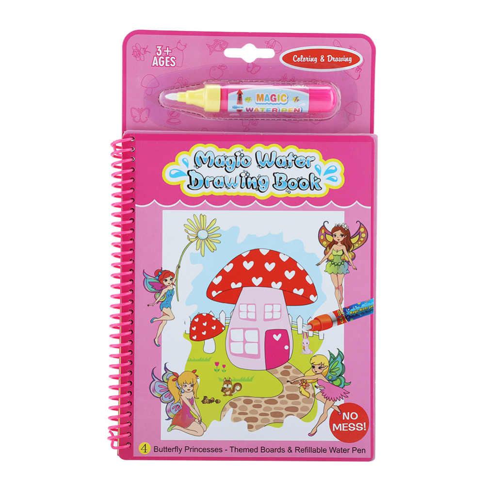 Волшебная водная книжка-раскраска с волшебной ручкой доска для рисования Juguetes для детей обучающая игрушка для рисования 6 цветов