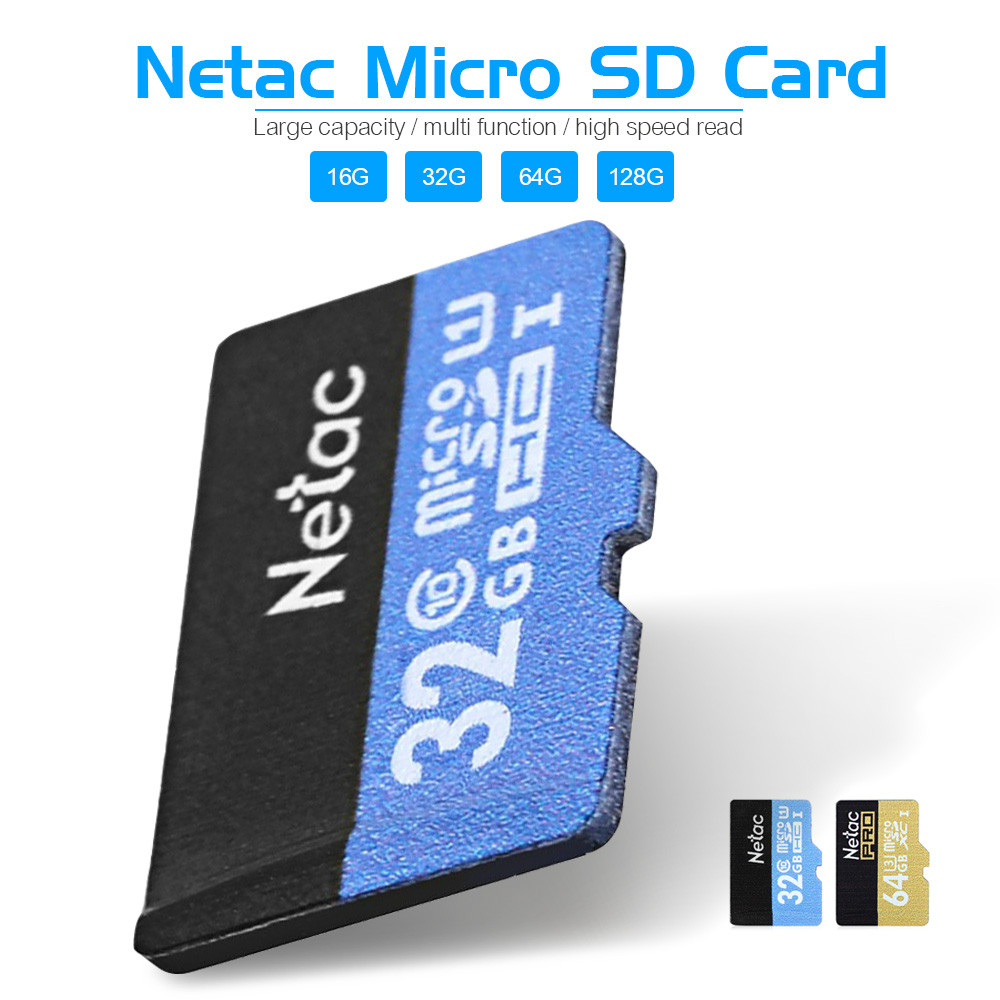 original netac micro sd card class 10 16gb 32gb 64gb 128gb uhs i flash memory card microsd card. Black Bedroom Furniture Sets. Home Design Ideas