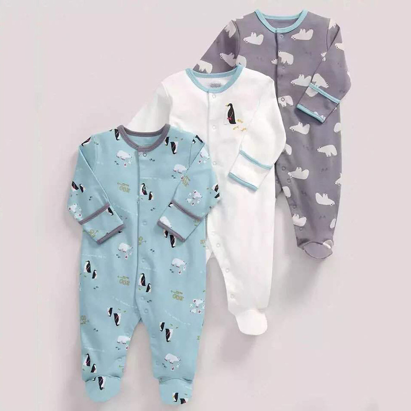 3pcs/lot Unisex Top Quality Baby Rompers Long Sleeve Cottom O-Neck 0-12M Novel Newborn Boys&Girls Roupas de Baby Clothes 100%cotton 3pcs lot baby rompers winter long sleeve baby boys clothing solid color o neck jumpsuit baby girls pajamas clothes