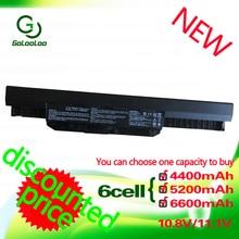 Golooloo 11.1v 4400MaH Battery for Asus A32-K53 K53S K53SV A43 K53SD K53S K53 K53S X54H K53TA X53S X53 K53SD K53E K53U K53SV 10pcs ac dc jack power port socket plug for asus a53 a53u a53e a53z a53u xe3 a53u es21 k53 k53e k53s k53sv x53s k52