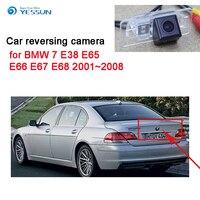 YESSUN Estacionamento Câmara de Visão Traseira para BMW 7 E38 E65 E66 E67 E68 2001 ~ 2008 CCD HD Noite visão À Prova D' Água de Backup Reversa CAM