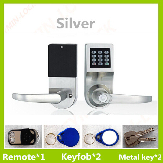 Free shipping Password digital door lock with wireless remote control unlock function