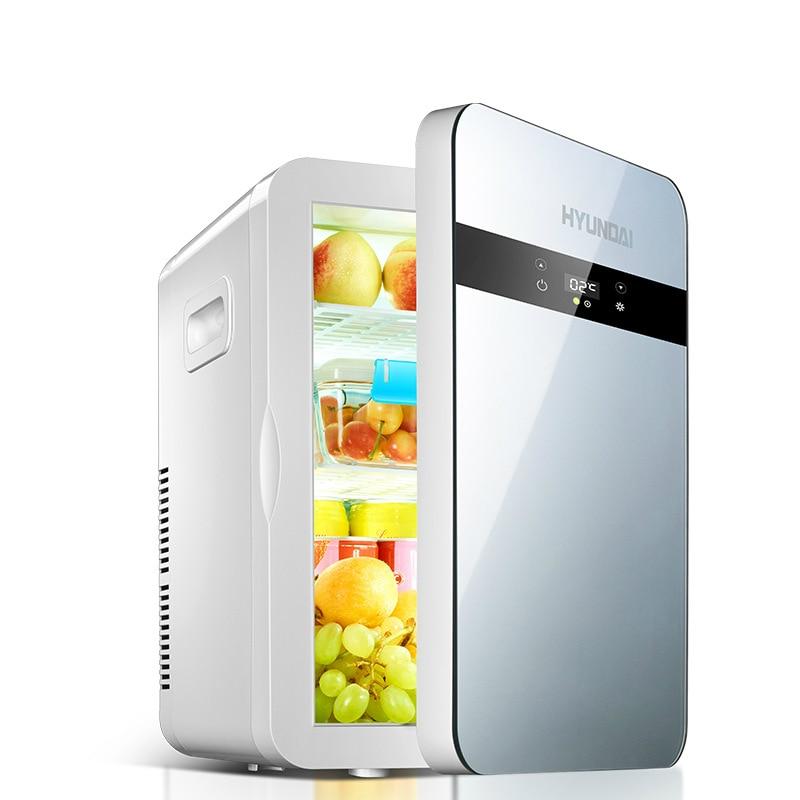 20L Mini Refrigerator LCD Car Home Dual Use Cooling Heating Mini Portable Fridge Camping Small Refrigerator Cooler Heater Box