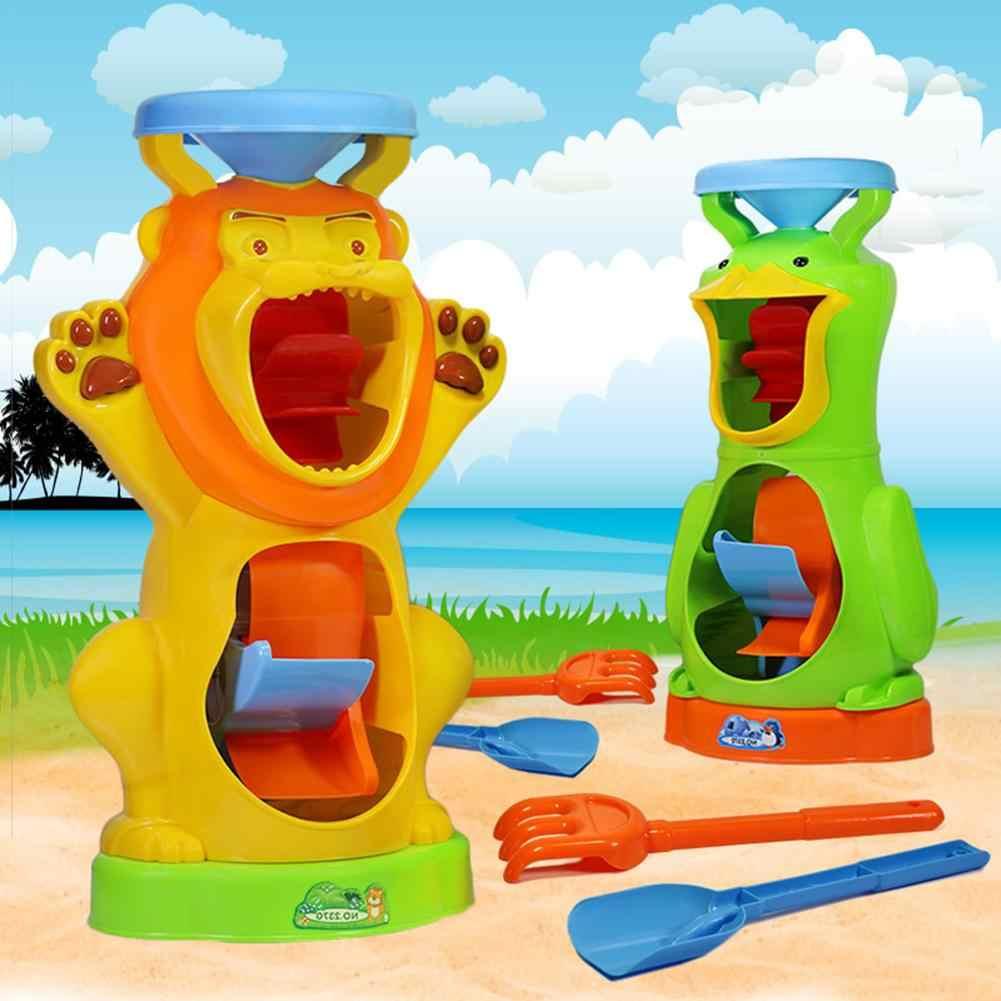 Наружные игрушки для детей двухколесные песочные часы детские водные инструменты летние пляжные игрушки песочные часы набор игрушек для детей