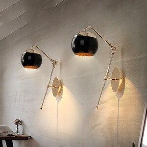 Image 1 - Nowoczesne domu sztuki czarne szkło kulki jadalnia kinkiet złoty metal ciała balkon światła Cafe światła darmowa wysyłka