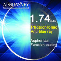 1.74 Index Aspherical Anti-blue Ray Light Photochromic Lenses Cr-39 Anti-glare Clear Gray Grade A Top Quality Thin Optical Lens