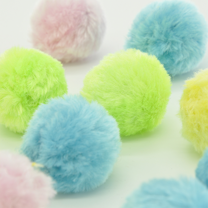 20 Piece lot Soft Cat Toy Sound Balls Kitten Toys Candy color Ball Assorted in Cat Toys from Home Garden