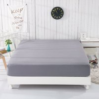 EARTHING Fitted Sheet Gray colour Not includes pillow case Cotton Silver Antimicrobial healthy sleep conductive fabric