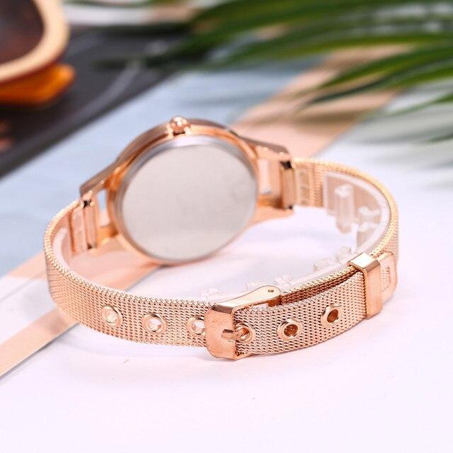 2018 Women Stainless Steel Lady Bracelet Watch vansvar Brand Elegant Dial Quartz Casual Wrist Watch Clock Gift reloj mujer