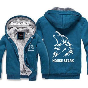 House Stark of Winterfell Printing Game of Thrones Thickness Hoodies Adult Baseball