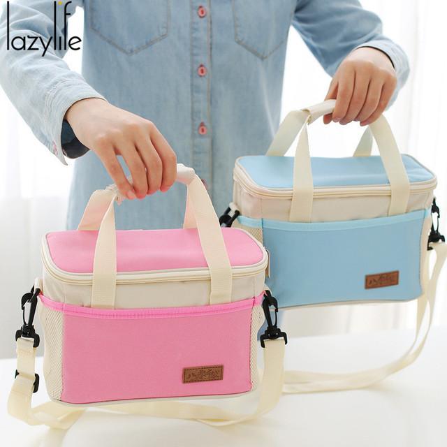 LAZYLIFE Marca Nuevo Térmica Refrigerador Aislado Bolsa de Almuerzo De Almacenamiento de Picnic Impermeable Portable Carry Tote Alta Calidad Envío Libre