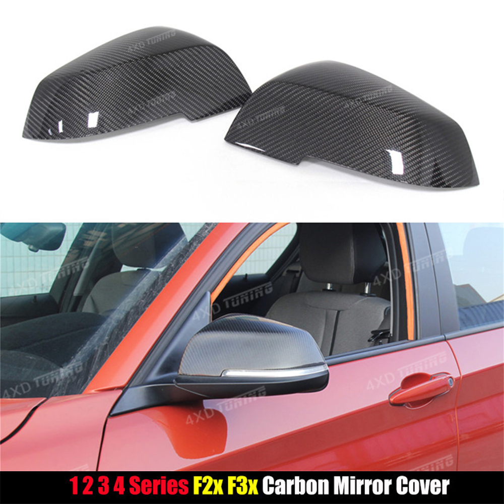 For BMW 1 2 3 4 X Series F20 F21 F22 F23 F30 F31 F32 F33 F36 X1 E84 Carbon Fiber Mirror Cover Rear View Side Mirror gloss black m style carbon mirror cover for bmw 1 2 3 4 x serie f20 f21 f22 f23 f30 f31 f32 f33 f36 x1 e84 m3 m4 look replacement