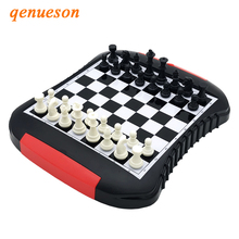 Portable Magnetic Storable Chess Pieces Travel Plastic Board Set With Games Accessories Children Entertainment Gift