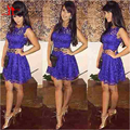 2016 Cheap Purple Lace Homecoming Dresses Short Vestidos De Festa Formal Party Cocktail Dress Gowns Custom Make Free Shipping