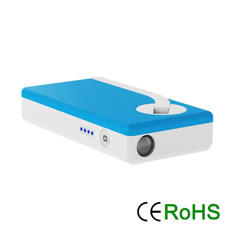 USB Phone Charger Hand Crank Generator Recharger Dynamo 2200mAh Power Bank With LED Flashlight