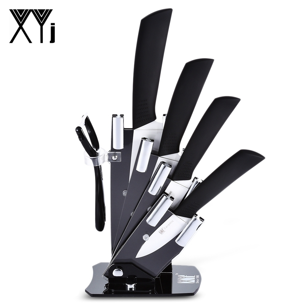 6 In 1 Sharp Kitchen Ceramic Knives Kit Peeler Holder Antibiotic Antioxidant Ceramic Health Care Nutrition Maintain Paring Knife