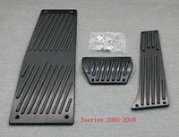 XYIVYG Color Black 3Pcs AT Brake Foot Rest Pedals Plate for 5 Series 2003 2010 E60 E61