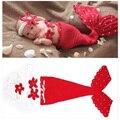 Sombrero del bebé caliente de la sirena recién nacido fotografía atrezzo niño niñas niños tejidas a mano de punto de ganchillo cap foto complementos disfraz sombreros tapas