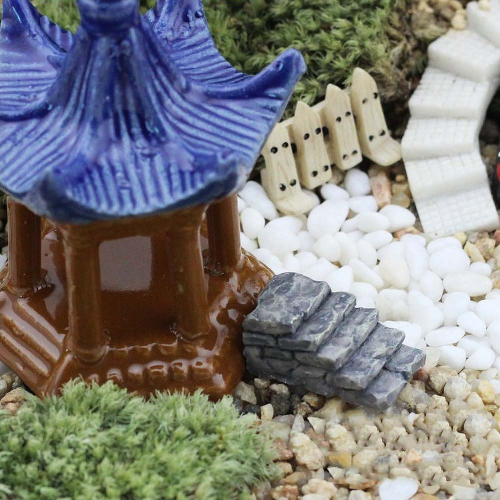 2 PCs Miniature Fairy Garden Stone Walkway Stair Style Dollhouse DIY Micro  Landscape Terrarium Home Decor