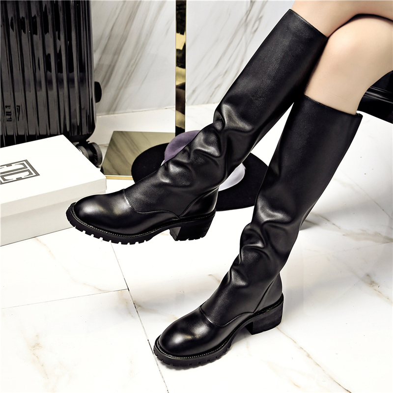 Aliexpress.com : Buy New 2017 Round Toe Knee High Boots ...