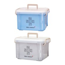 все цены на Capacity Medicine Box First Aid Kit Plastic Box Emergency Kit Container Portable Multi-layer Home Storage Organizer