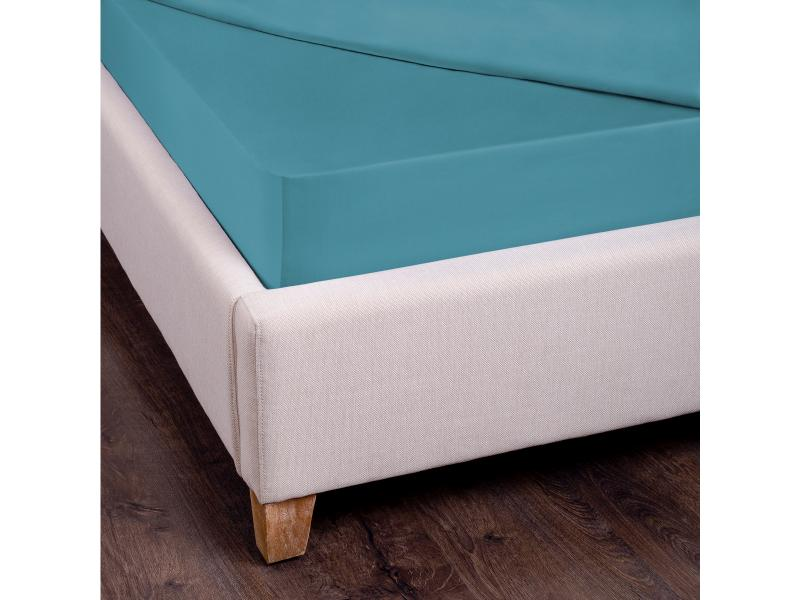 Bed Sheet with elastic band SANTALINO, 160*200 cm, turquoise pu elastic band appliques thong womens sandals