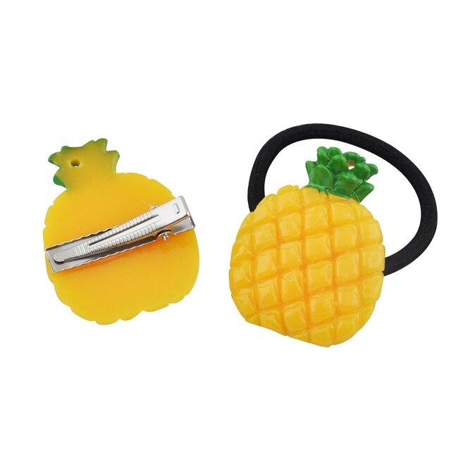 1Pc Fruit Slice Multi-Patterns Hair Accessories Girl Women Elastic Rubber Bands Hair Clips Headwear Tie Gum Holder Rope Hairpins 4