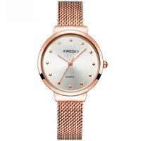 Kingsky Women S Lady Thin Wrist Watch Quartz Hour Steel Classic OL Bracelet Watches Women Lover
