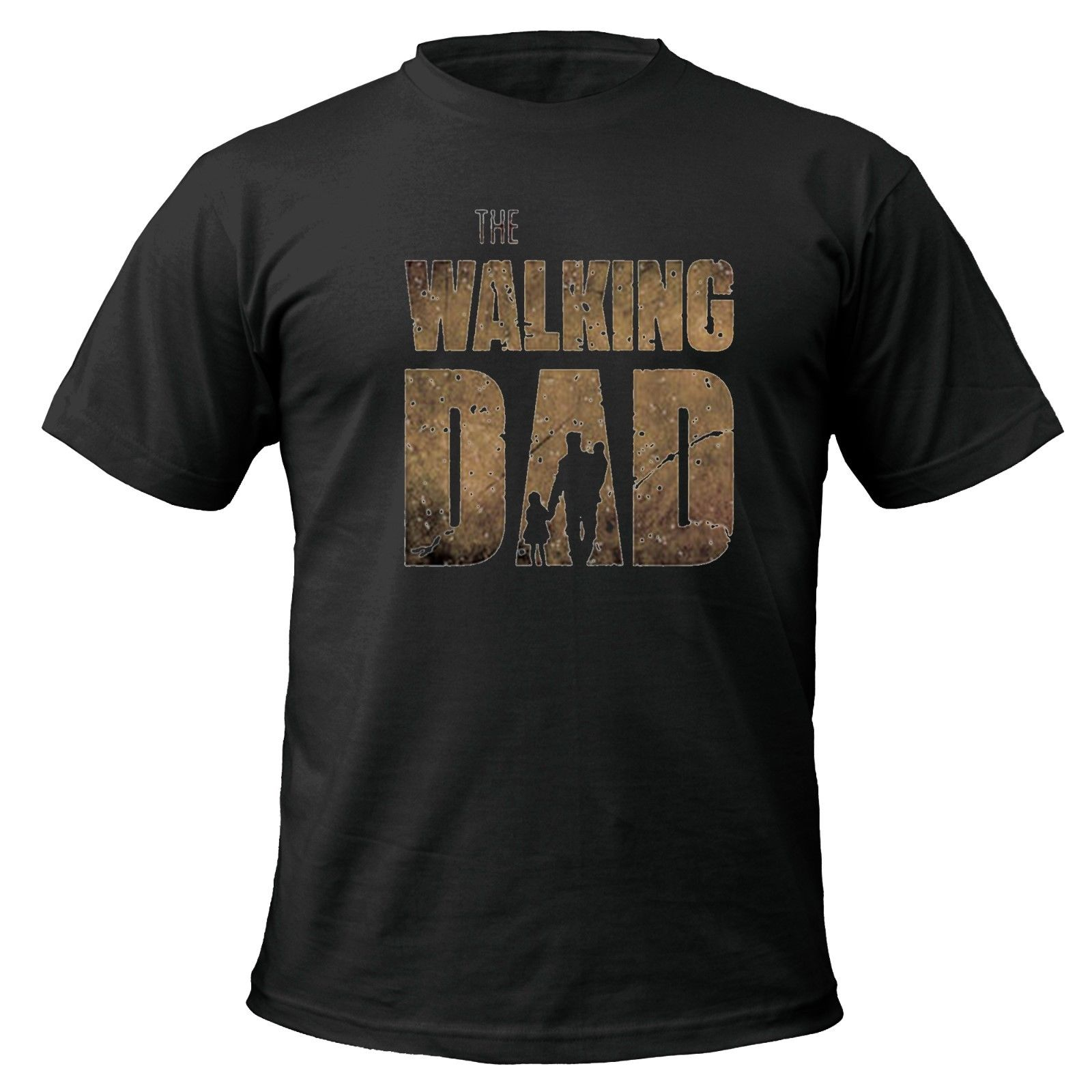 The Walking Dad T-shirt fathers day dead zombie gift funny up to 5XL Summer Short Sleeves T-Shirt Fashion Men Summer Style
