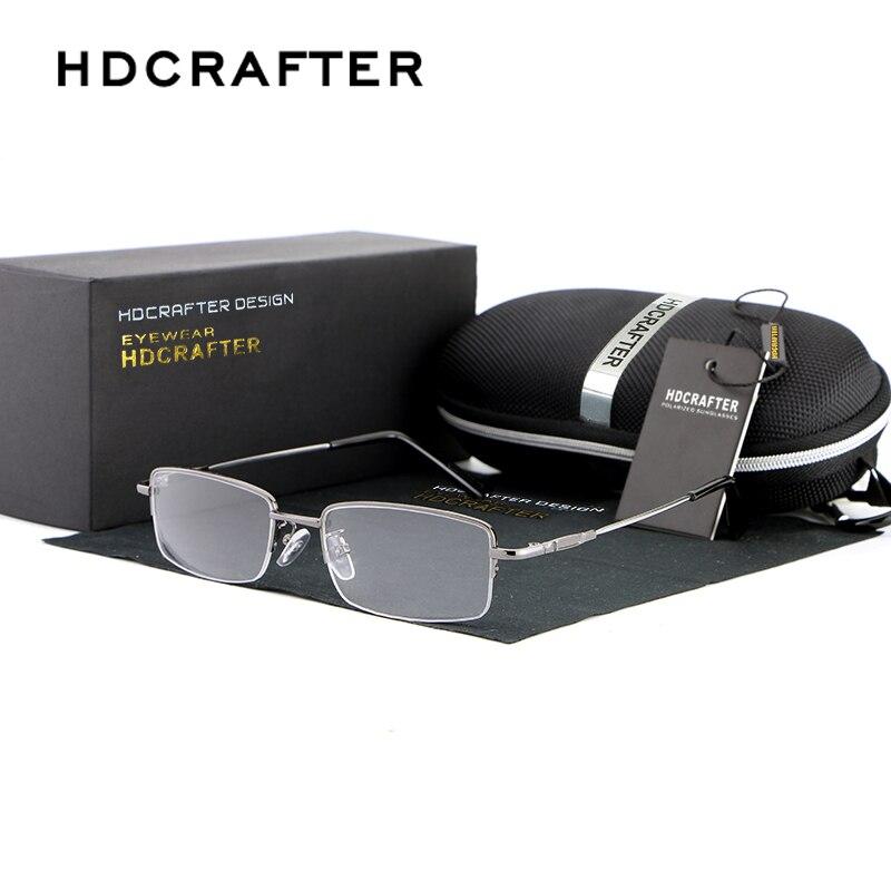HDCRAFTER New Myopia Glasses Frame Plain Mirror Women Fashion Metal Frame Man Glasses Optical Frames