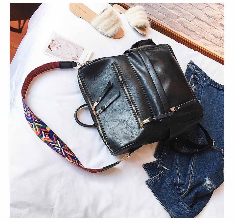 HTB1ptBZnSYH8KJjSspdq6ARgVXa0 Leather Backpack Women 2019 Students School Bag Large Backpacks Multifunction Travel Bags Mochila Pink Vintage Back Pack XA529H