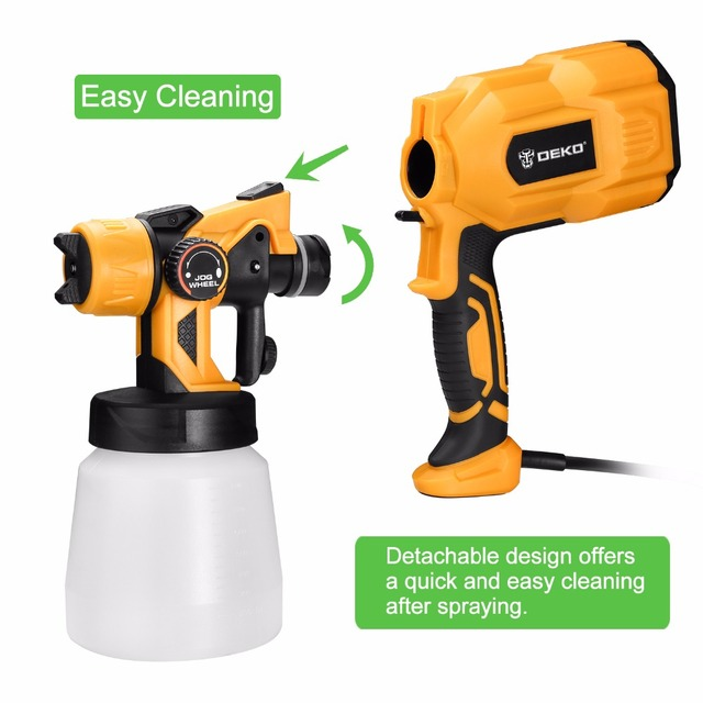 DEKO Spray Gun, 550W 220V High Power Home Electric Paint Sprayer, 3 Nozzle Easy Spraying and Clean Perfect for Beginner 3