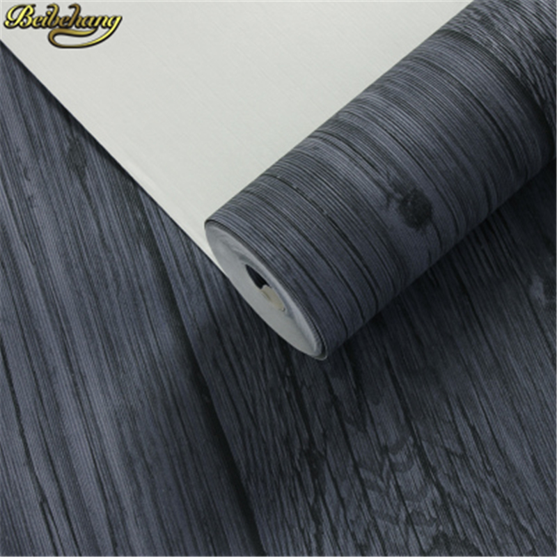Beibehang américain rétro vieux PVC vinyle bois papier peint rouleau décoratif 3D papier peint salon Bar vêtements magasin salon