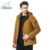 befc244d912 ICEbear Новинка 2019 года для мужчин пальто большой размеры полиэстер  Весенняя Мужская Куртка парка повседневное бренд