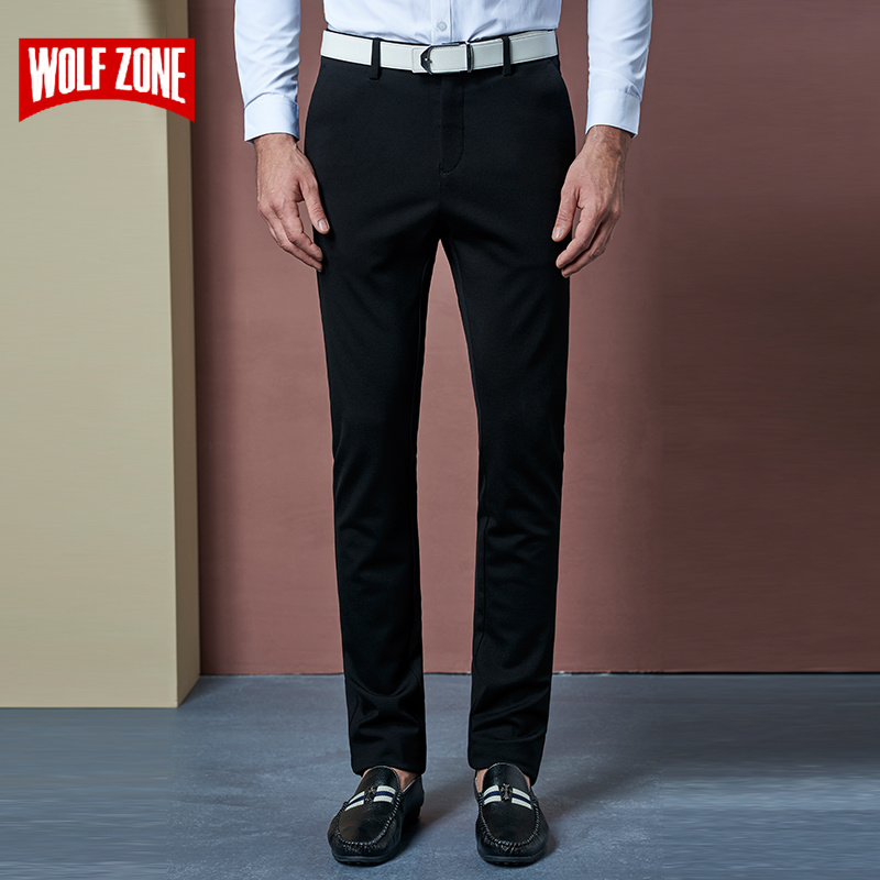 2017 New Arrival Autumn Suit Pants Man Dress Men Office Pantalon Slim Fit Wedding Homme Mens Formal Trousers Flat Casual Skinny