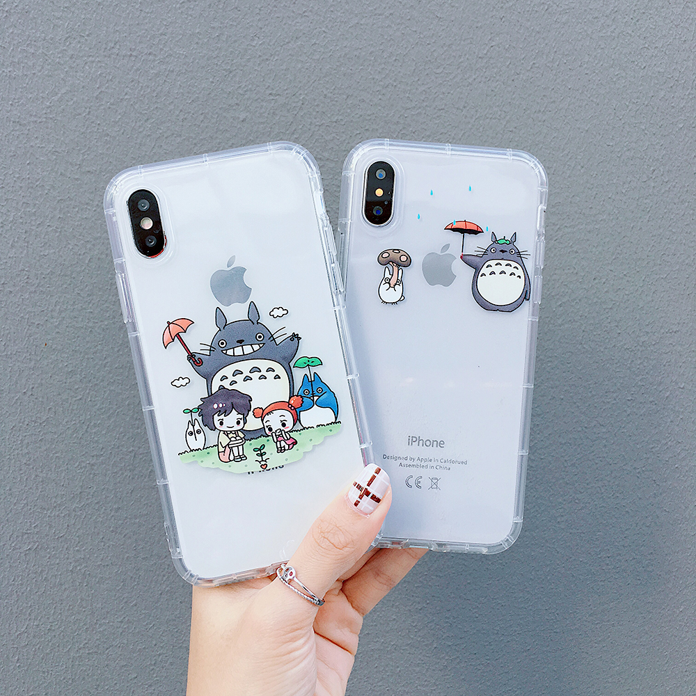 Cartoon My neighbor Totoro Soft Case for iPhone 6 6S 8 Plus X XR XS Max