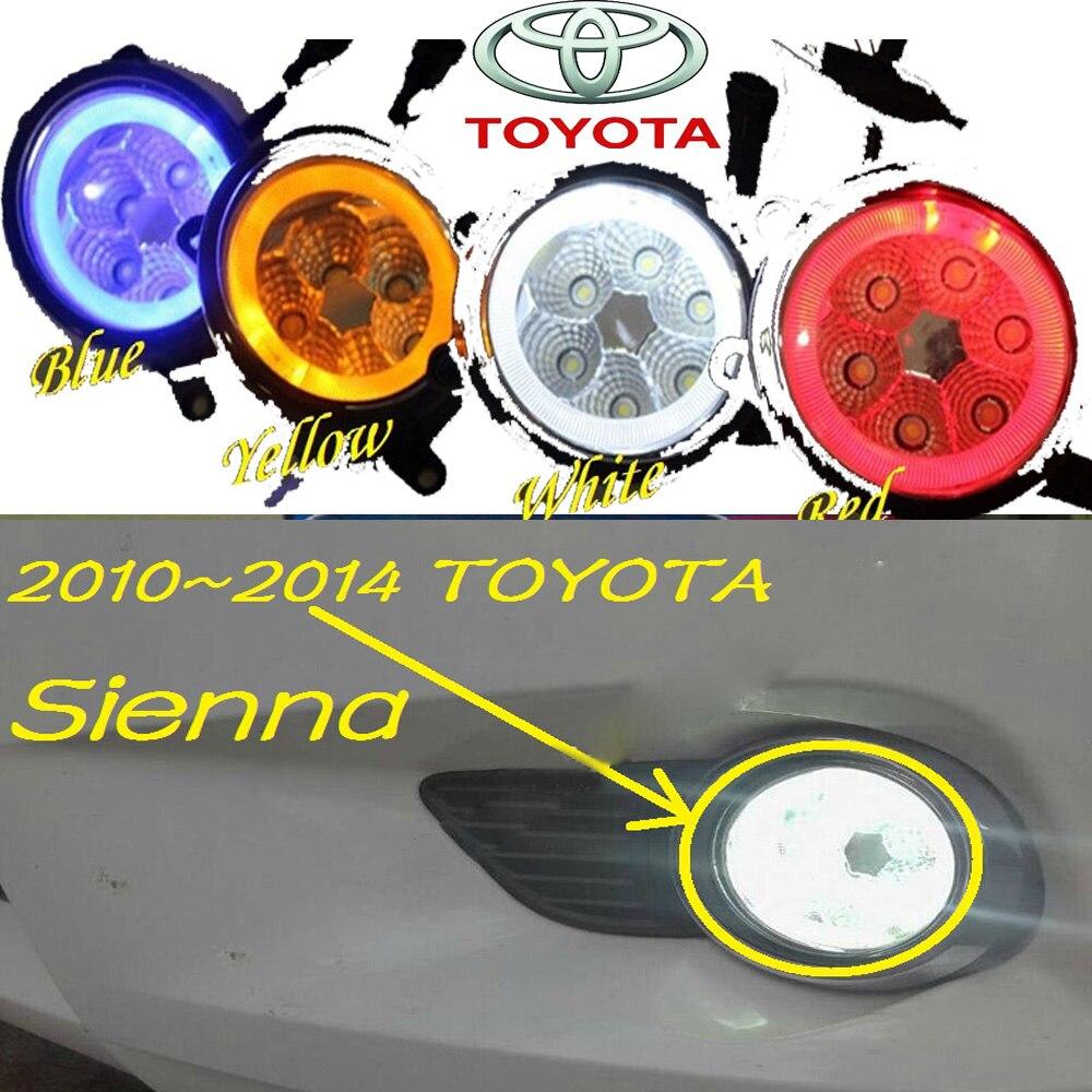 Сиенна противотуманные фары 2010,~2014,2 шт/комплект,optonal:белый,желтый,синий,красный,Сиенна дневного света,светодиодные,Бесплатная доставка! Сиенна фары