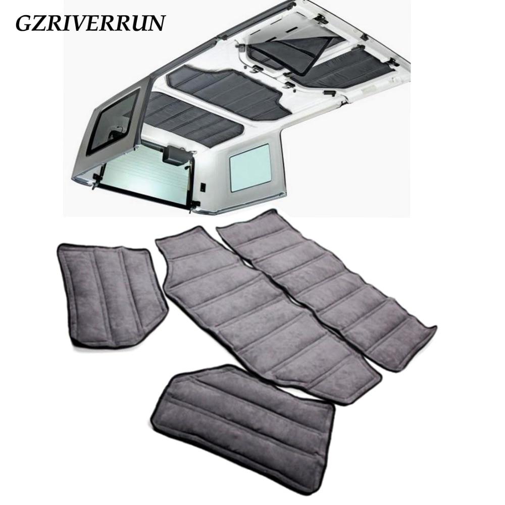 Hardtop Heat Noise Insulation Kit For Jeep Wrangler JK Rubicon Sahara 4 door 82212464AC 12109 04
