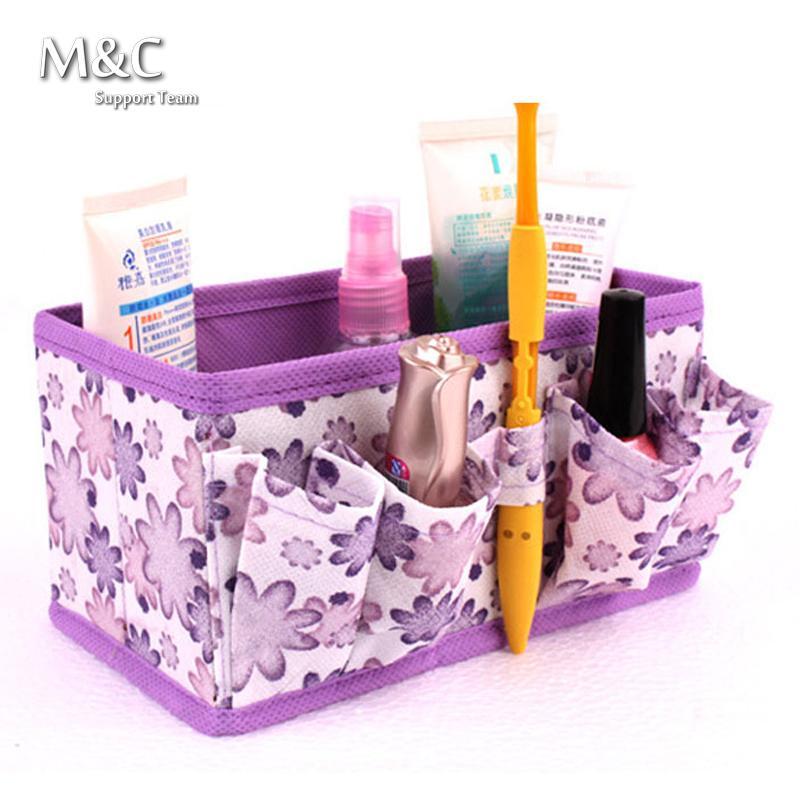 1 PCS Cosmetic Folding Makeup Storage Box Container Bag Case Stuff Organizer New 2017 HZB-003