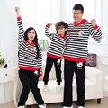 Hoodies de la Historieta de rayas Casual Madre Padre Hija Hijo Ropa Juego de Ropa de la Familia Familia Conjunto Mujer Hombre Niño Camiseta 3XL XP01