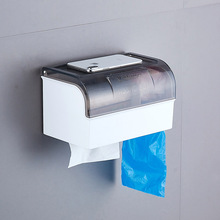 Toilet Paper Box Home Bathroom Wall-Mounted Tissue Kitchen Punch Free Napkin Dispenser WC Lavatory Supplies