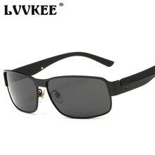 LVVKEE 2018 Polarized Driving Sunglasses Men's Fashion drive car Sun Glasses For Female / Male Metal Frame Night Vision Goggles