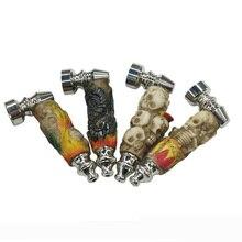 Grinder Tobacco-Pipe Skull Smoking-Pipes Narguile Resin Metal Gifts Portable