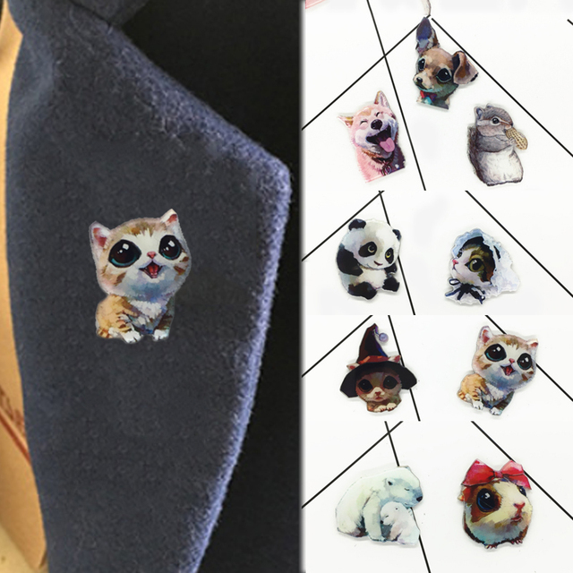 Gift Women Badge Animal Clothing Accessories Children Fashion Bag Ornament Pin Dogs Cat Jewelry Cute Brooches Girls